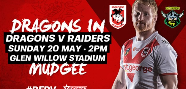 Dragons back on the road to Mudgee next week