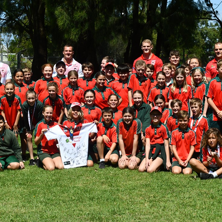 Dragons' 2021 community blitz concludes in Illawarra