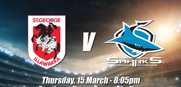 Game Day Information: Round 2 v Sharks