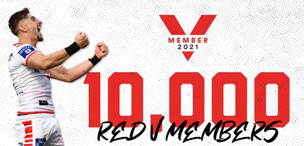 Dragons hit 10,000 Red V members for 2021
