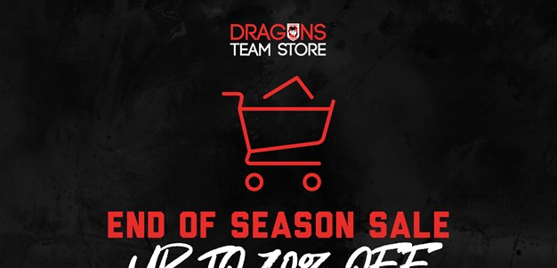 Dragons Team Store end-of-season sale