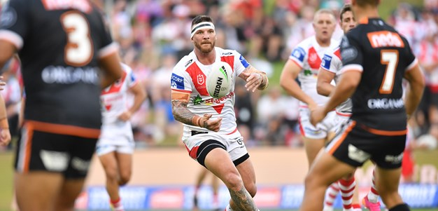 Dragons fall to Wests Tigers in Wollongong