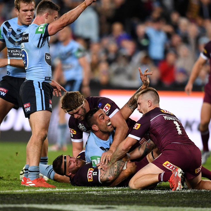 Last-gasp try sees NSW win Origin series over Maroons