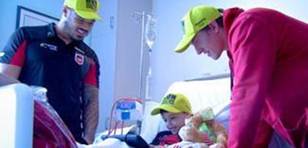 DTV Dragons Visit Wollongong Hospital