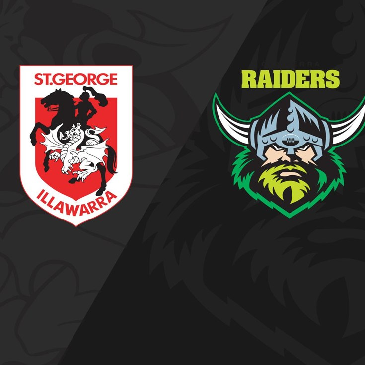 Full match replay: Dragons v Raiders - Round 11, 2018
