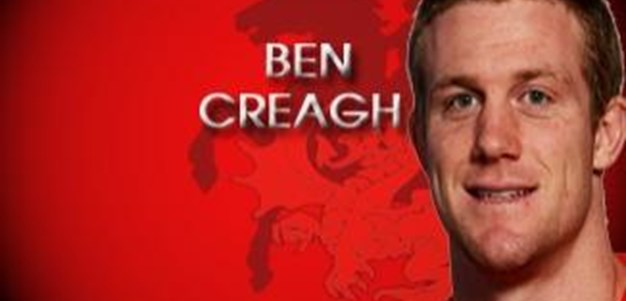 Ben Creagh believes Pressure is Shared