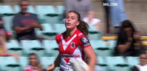 Sergis intercepts her way to a double