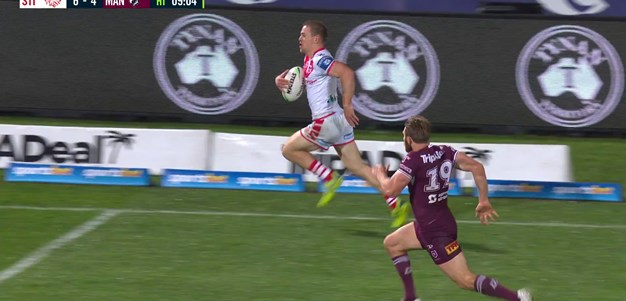 Dufty finishes off a Lomax intercept