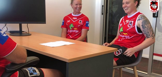 The moment Jade Etherden finds out about NRLW debut