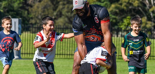 Fun in the sun at the Dragons school holidays clinics
