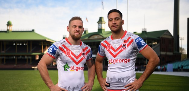 Norman and Dufty on special Anzac Day feeling