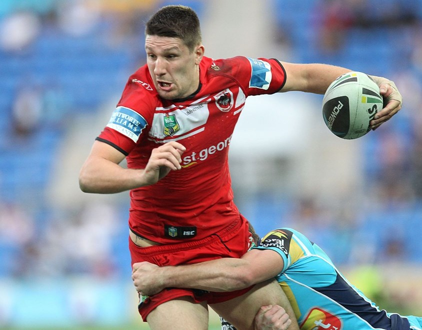 Photo by Colin Whelan copyright © nrlphotos.com :      Gareth Widdop                         NRL Rugby League, Round 15 Gold Coast Titans v St George Illawarra Dragons at Robina, Sunday June 22nd 2014.