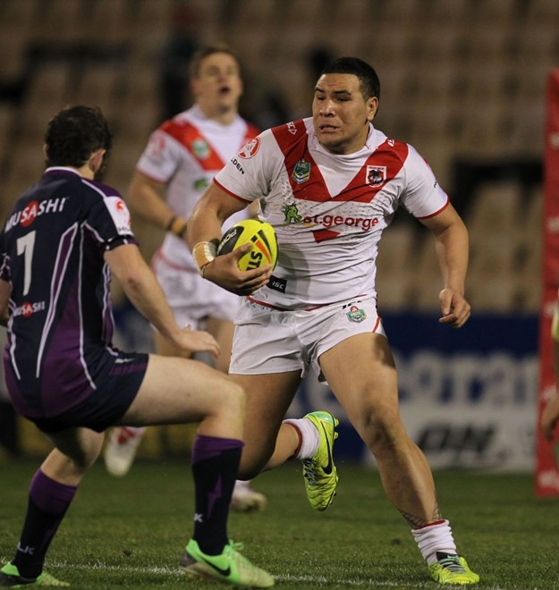 Photo by Colin Whelan copyright © nrlphotos.com :  NYC Holden Cup  Rugby League, Round 16 St George Illawarra Dragons v Melbourne Storm at Wollongong, Monday June 30th 2014.
