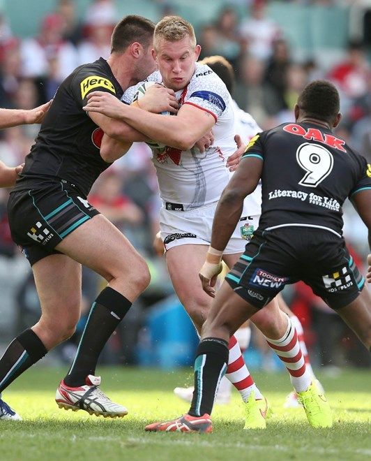 Digital Image by Robb Cox ©nrlphotos.com: Mike Cooper :NRL Rugby League - Round 22, St George Illawarra Dragons V Penrith Panthers at WIN Stadium, Sunday August 10th 2014.
