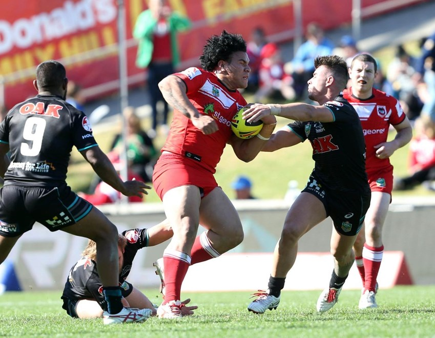 Digital Image by Robb Cox ©nrlphotos.com:  :NYC Rugby League - Round 22, St George Illawarra Dragons V Penrith Panthers at WIN Stadium, Sunday August 10th 2014.