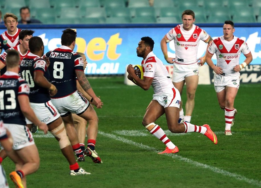 Digital Image by Robb Cox ©nrlphotos.com:  :NYC Rugby League - Round 21, Sydney Roosters V St George Illawarra Dragons at Allianz Stadium, Saturday August 2nd 2014.