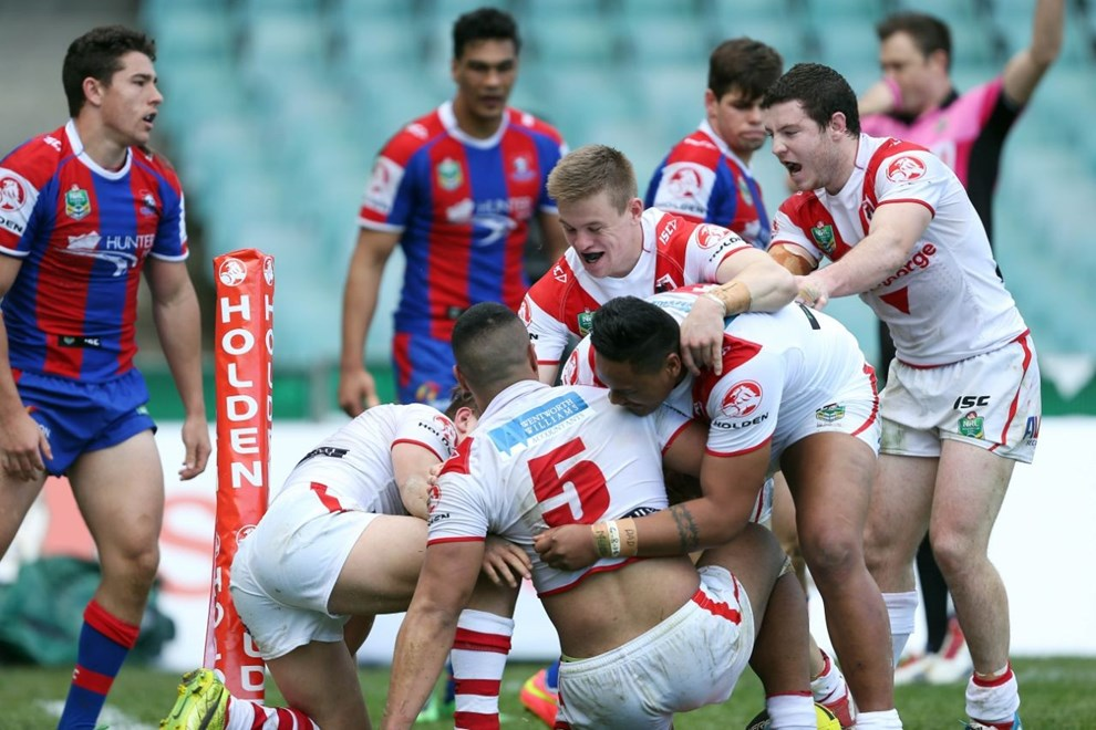 Digital Image by Robb Cox ©nrlphotos.com:  :NYC Rugby League - First Qualifying Final, St George Illawarra V Newcastle Knights at Allianz Stadium, Saturday September 13th 2014.