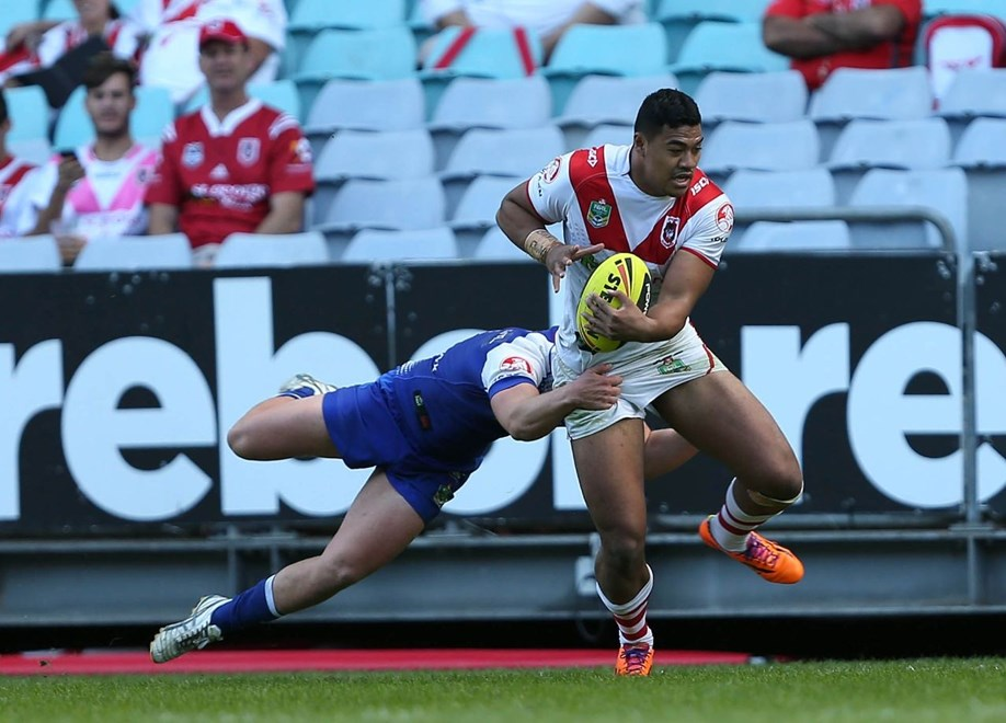 Digital Image by Robb Cox ©nrlphotos.com:  :Holden Cup Rugby League; St George Illawarra Dragons V Canterbury Bankstown Bulldogs at ANZ Stadium, Sunday the 11th of May 2014.