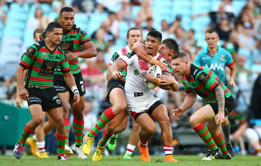 during the NRL Charity Shield match between the South Sydney Rabbitohs and the St. George Illawarra Dragons at ANZ Stadium on February 13, 2016 in Sydney, Australia. Digital Image by Mark Nolan.