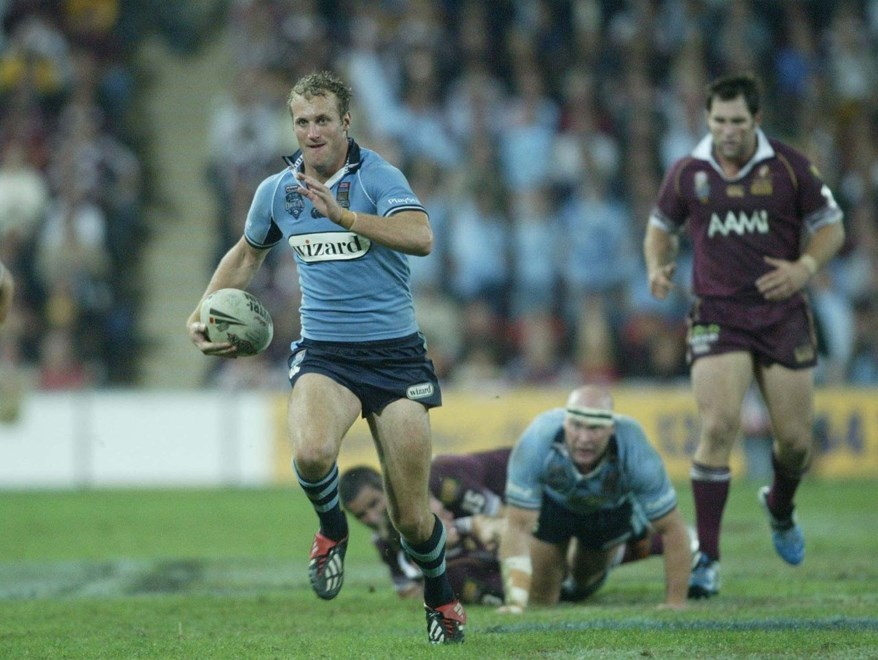 Mark Gasnier:	Representative Rugby League, State of Origin 1, NSW v QLD at Suncorp Stadium, Brisbane, Wednesday May 25th 2005. Digital image by Colin Whelan © Action Photographics