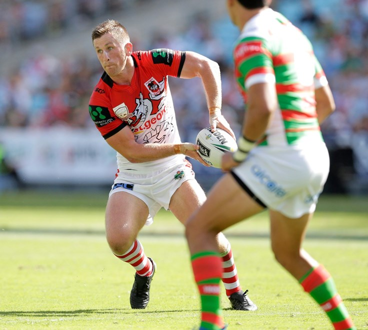 2017 NRL Trial - CHARITY SHIELD - St George Illawarra Dragons v South Sydney Rabbitohs Sunday 19th of February 2017. at ANZ Stadium Homebush.