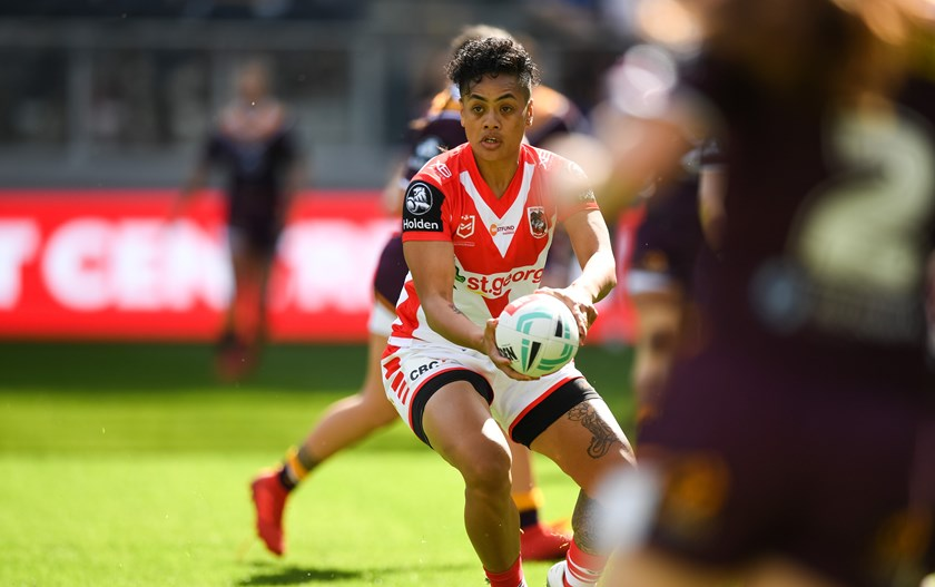 Kimiora Nati in action for the Dragons
