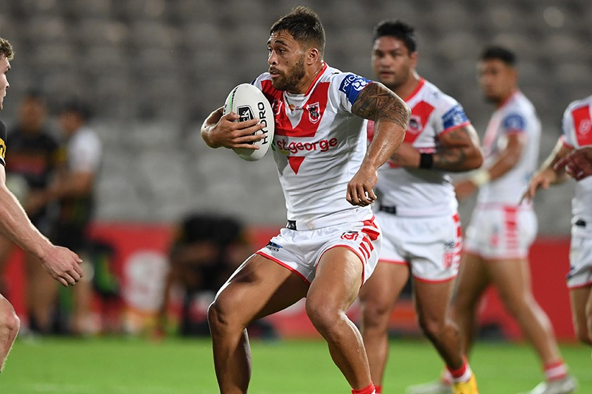 Tackle busting machine Jordan Pereira in action last week against the Panthers
