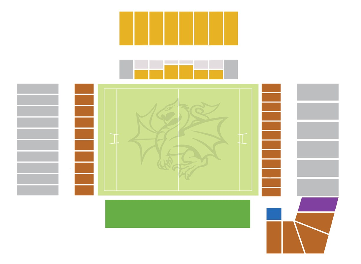 WIN Stadium - Wollongong Pass seating map